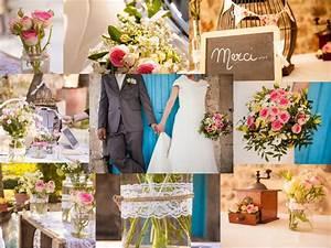 Mariage Theme Champetre : decoration mariage theme champetre id e mariage et robe ~ Melissatoandfro.com Idées de Décoration