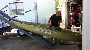 Getting A Heavy Hobie Kayak Off Truck Rack  Part 1 Of 4
