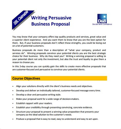 business proposal examples  scrumps