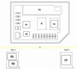Toyoto Verso-s  2010 - 2017  - Fuse Box Diagram