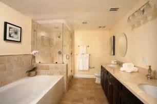 modern master bathroom with drop in sink custom shower