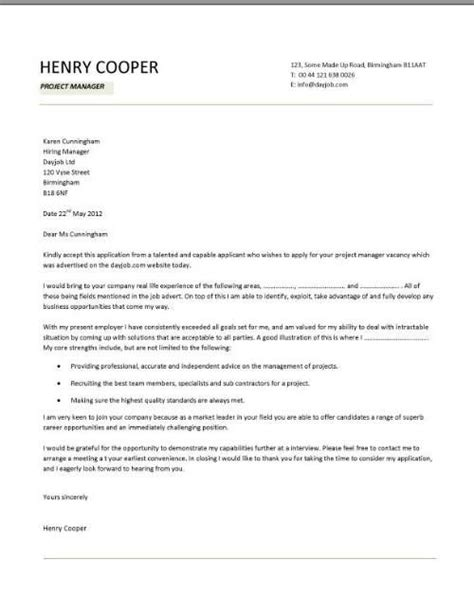 Cover Letter For Cv by Cover Letter Exles Template Sles Covering Letters