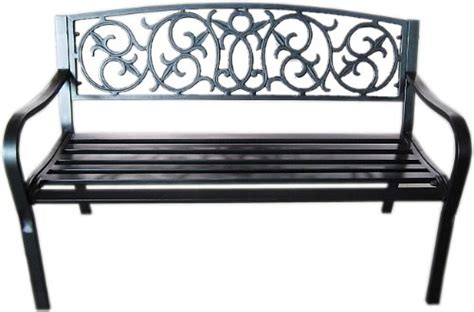 black outdoor bench black metal garden bench seat outdoor seating with