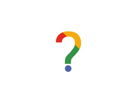 Google Question Mark by Federico Kotek on Dribbble