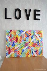 Diy canvas art the challenge part simply