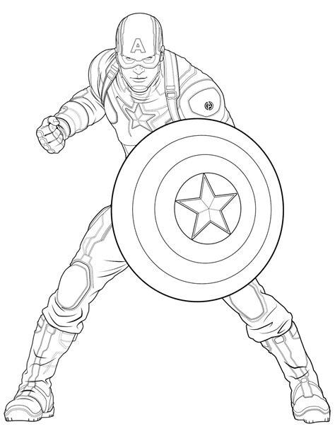 Kaptain Amerika Kleurplaat by Captain America Captain America Coloring Pages