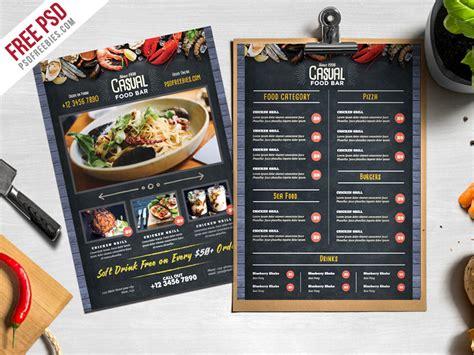 chalkboard style food menu psd template psdfreebiescom