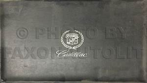 1995 Cadillac Deville And Concours Eldorado Seville Repair