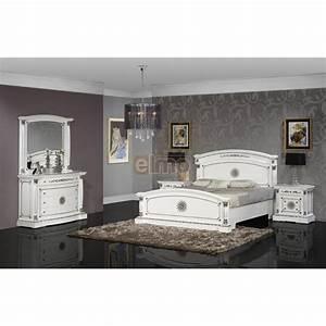 Chambre Complete Adulte : chambre coucher compl te adulte classique laque et or ~ Carolinahurricanesstore.com Idées de Décoration