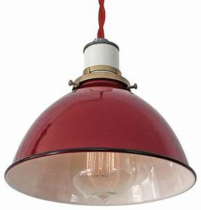 The sullivan industrial lamp red twisted cord pendant
