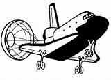 Parachute Coloring Shuttle Space Landing Open Its sketch template