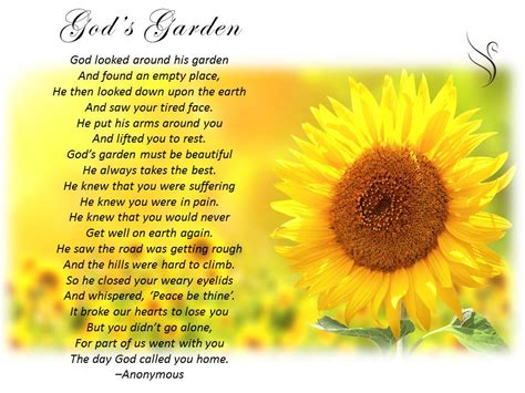 Garden Of The Gods Flowers by Funeral Poem God S Garden Funeral Poems General