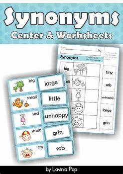 synonyms center  worksheets  lavinia pop teachers