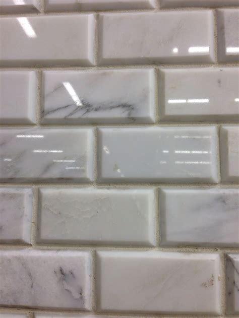 marble subway tile beveled master redo