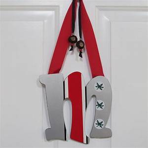 reserved for lisa 24quot ohio state buckeyes block o door With ohio state letters