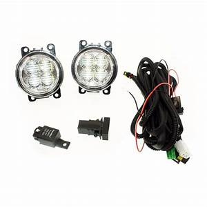 For Subaru Outback 2010 2012 H11 Wiring Harness Sockets Wire Connector Switch   2 Fog Lights Drl