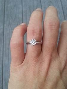 Seeking pics of 1/2 carat to 3/4 carat diamond e-rings on ...