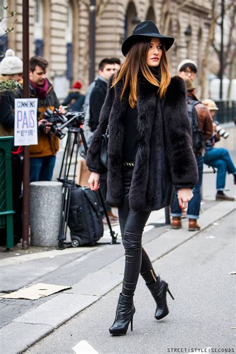 Fur Coat Fabulous Boots Street Style Paris During