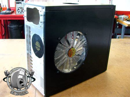 pc side panel fan diy guide installing 250mm fan cool your pc with