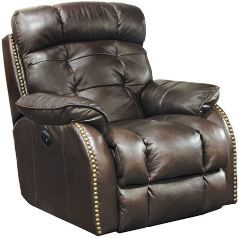 best leather recliner catnapper patterson top grain leather touch power lay flat