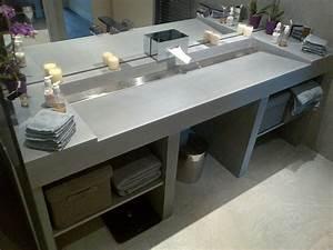 Meuble Avec Plan De Travail : emejing comment fabriquer un meuble vasque avec plan de ~ Dailycaller-alerts.com Idées de Décoration