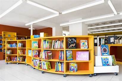 Shelving Library Curved Inform System Curve Childrens