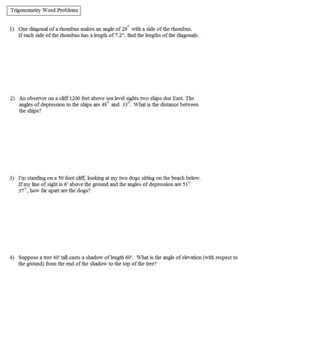 right triangle word problems worksheet math word problems new calendar template site