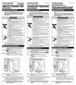 Overhead Garage Door Remote Instructions