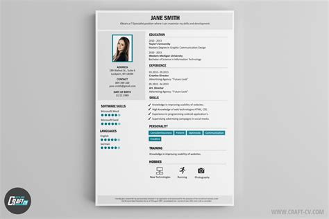 Resume Creator Creative by Resume Builder 36 Resume Templates Craftcv