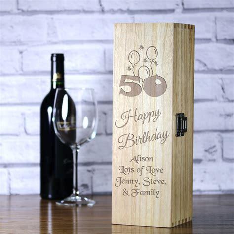 personalised luxury wooden wine box  birthday