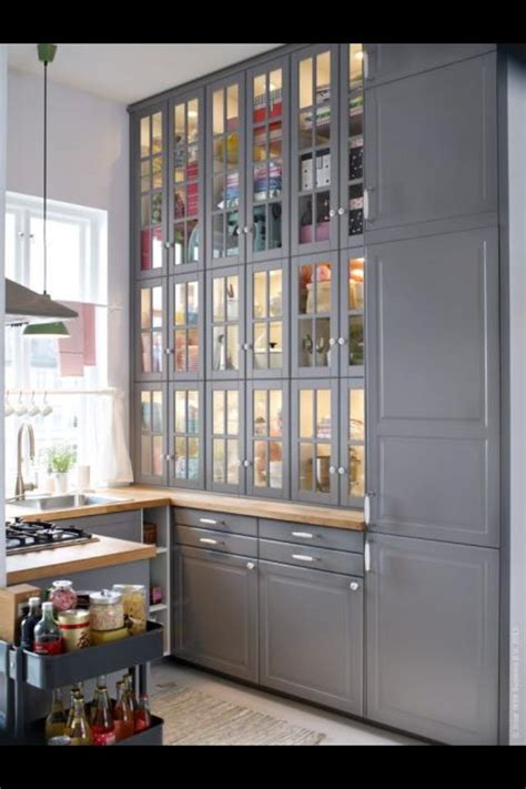 glass kitchen wall cabinets 17 best images about ikea kitchen on pinterest white