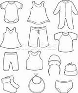 Baby Coloring Clothes Pages Clothing Colouring Print Printable Clothe Drawing Winter Outfits Children Prints Babies Books Colourin Laundry Clipart Printables sketch template