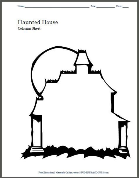 haunted house template haunted house printable can color and customize their house in fact it could be a