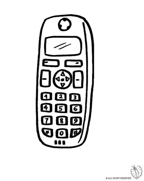 telefono da colorare sta disegno di telefonino cellulare da colorare
