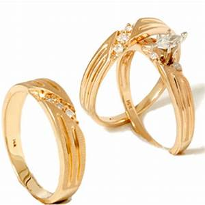 1 4ct diamond matching trio wedding ring set 14k gold ebay With matching trio wedding rings