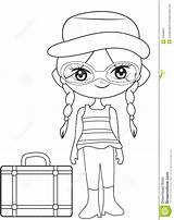 Travel Coloring Preview Illustration sketch template