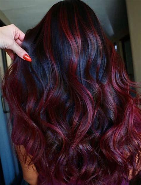fantastic velvet burgundy hair color shades  women