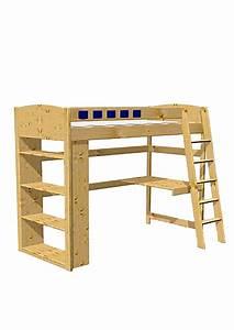 Hochbett Holz Kinder : kinder hochbett studiosus mit schreibtisch und regal ~ Michelbontemps.com Haus und Dekorationen