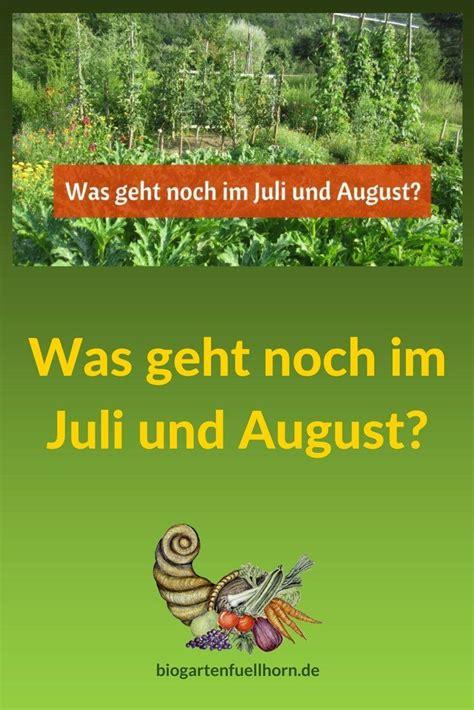 Garten Pflanzen Im Juli by Was Geht Noch Im Juli Und August Selbstversorgung