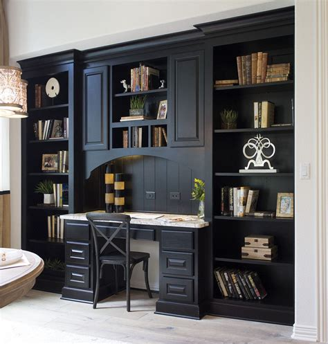 Office Desk With Bookshelf by Image Result For Black Built In Bookcases Design