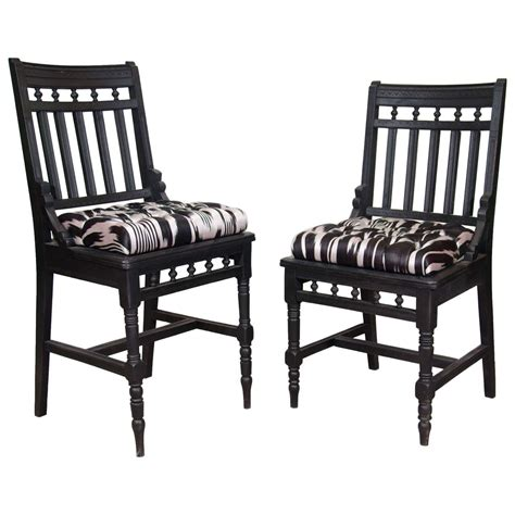 an antique set of his and hers eastlake side chairs at 1stdibs