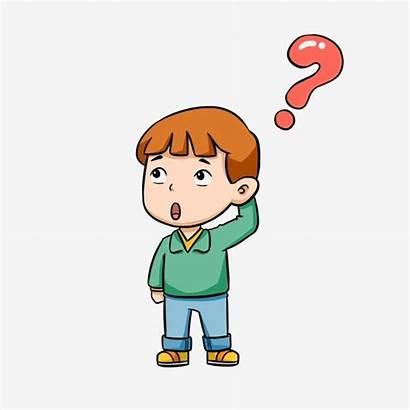 Question Cartoon Mark Boy Thinking Clipart Problem