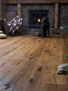 antique oak random width rustic living room new york With antique hardwood flooring for sale