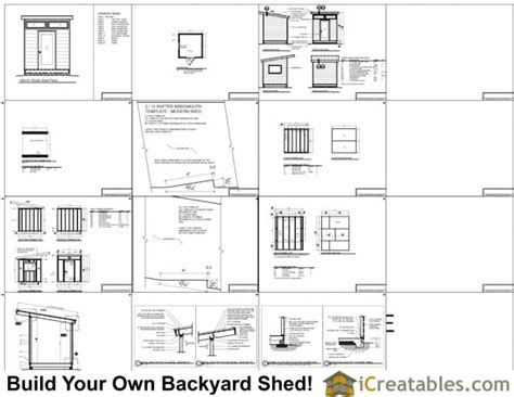 8x8 storage shed material list 8x8 modern shed plans center door