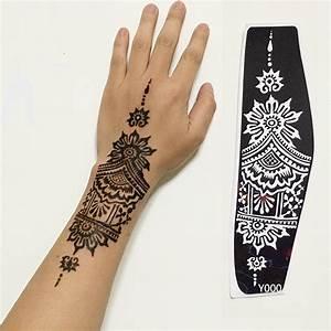 Henna Tattoo Schablonen : henna tattoo schablonen kaufen billighenna tattoo schablonen partien aus china henna tattoo ~ Frokenaadalensverden.com Haus und Dekorationen