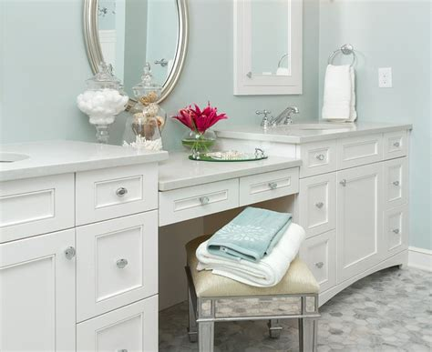 marvelous white makeup vanity traditional bathroom
