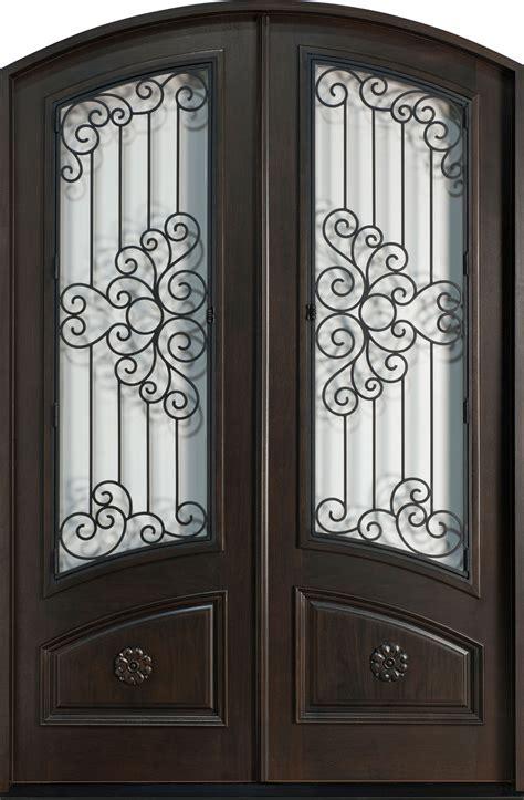 front door custom double solid wood  espresso