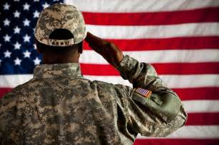 To a Army Soldier Saluting the American Flag