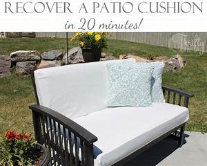 recover a patio cushion in as little as 20 minutes With recover patio furniture cushions