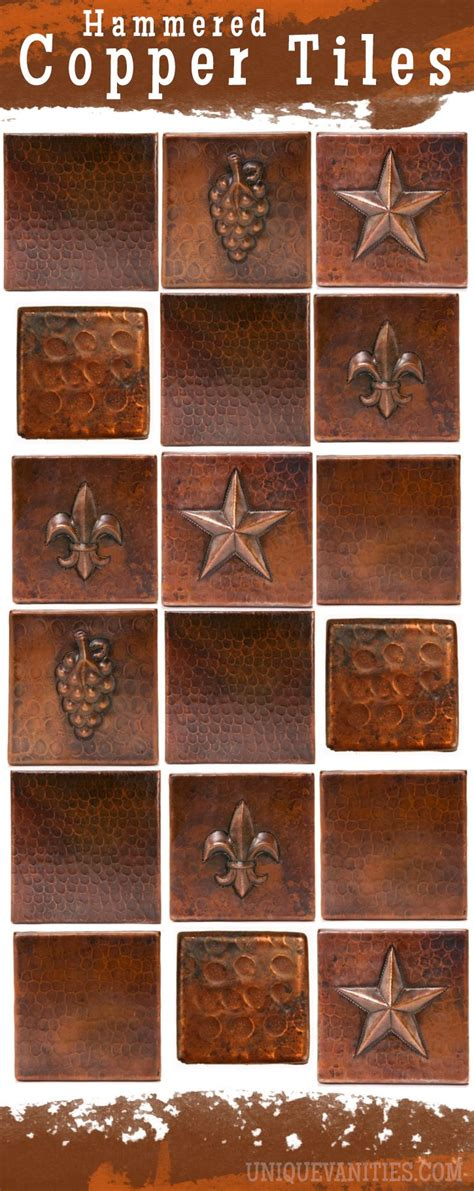 hammered copper tiles copper countertops